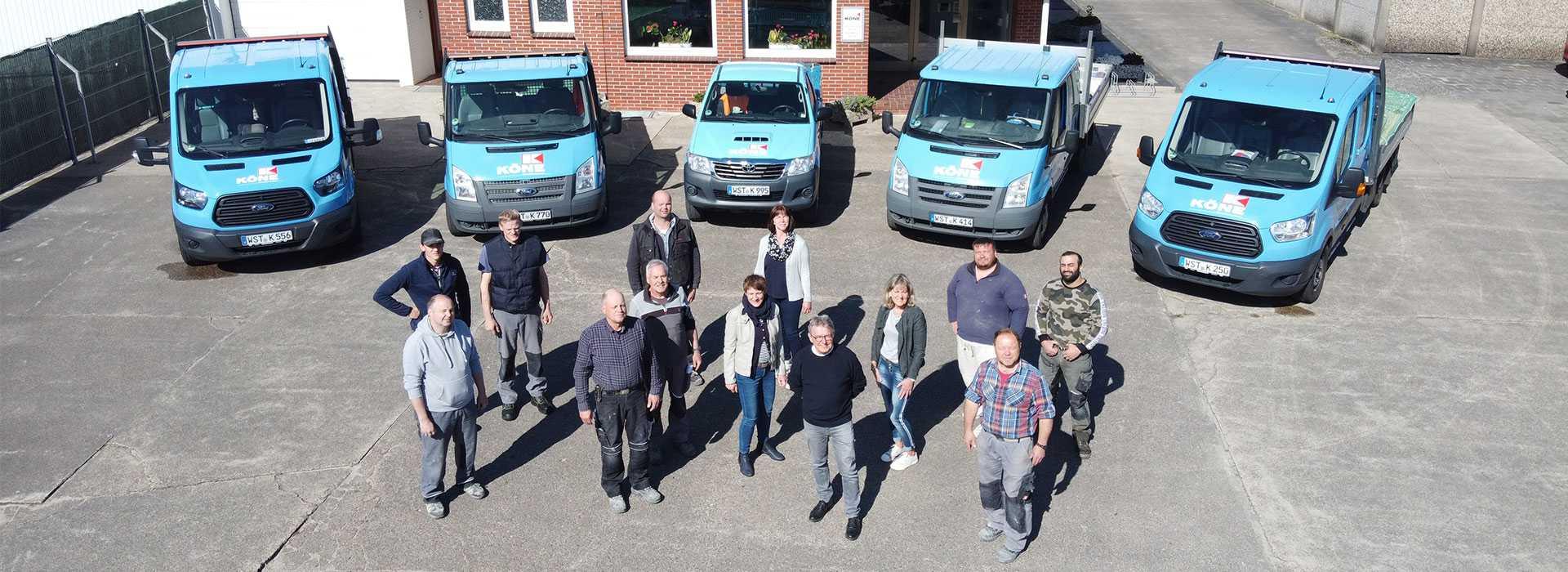 Das Team vom Köne Bauunternehmen